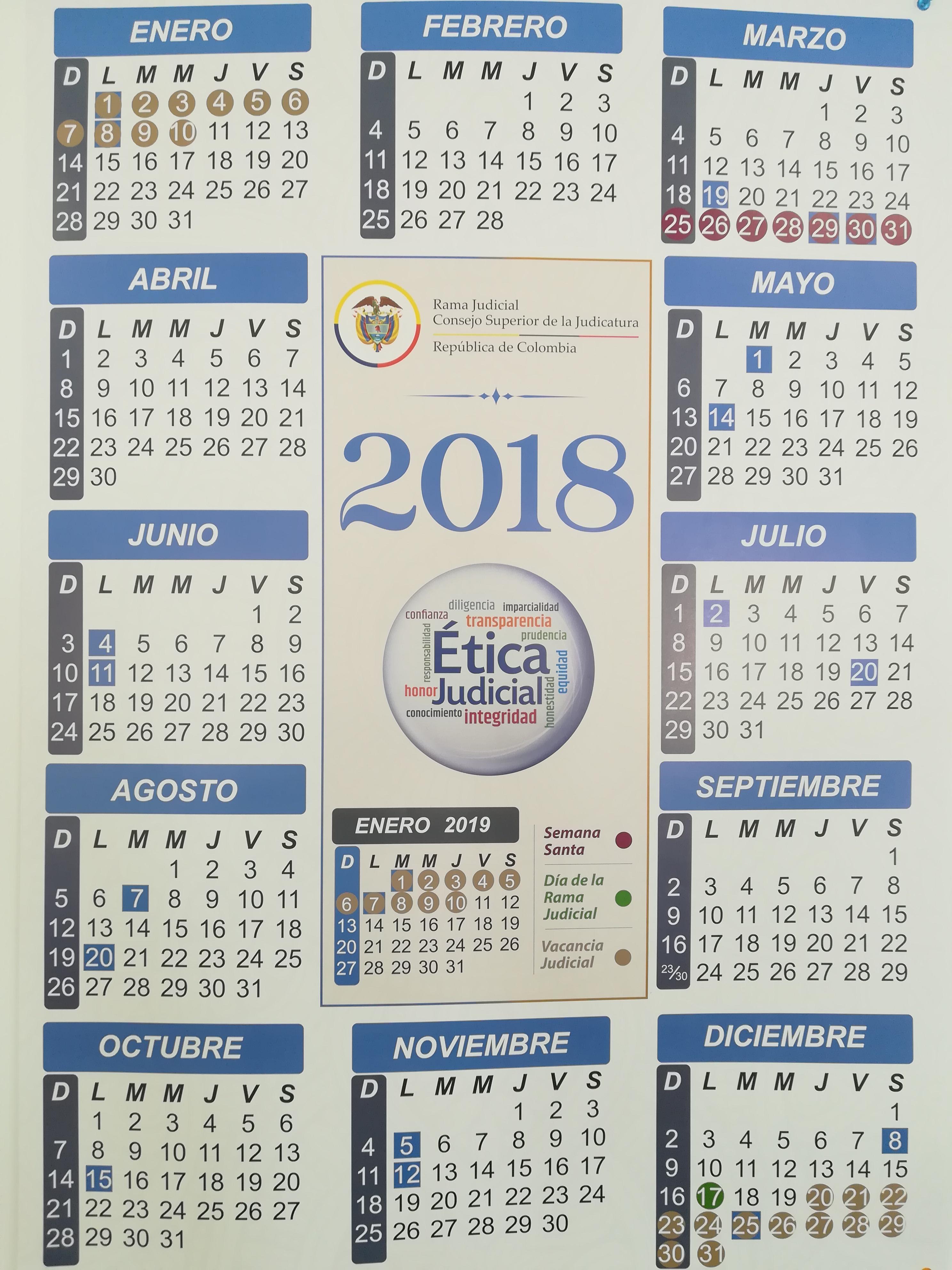 799a31675 Calendarios - Rama Judicial